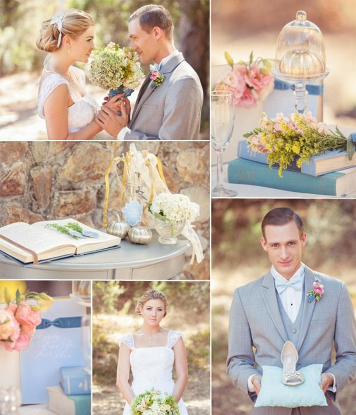 carrosse-cendrillon-Disney-centre-de-table-mariage-gâteau-cendrillon-la-couple-mariée