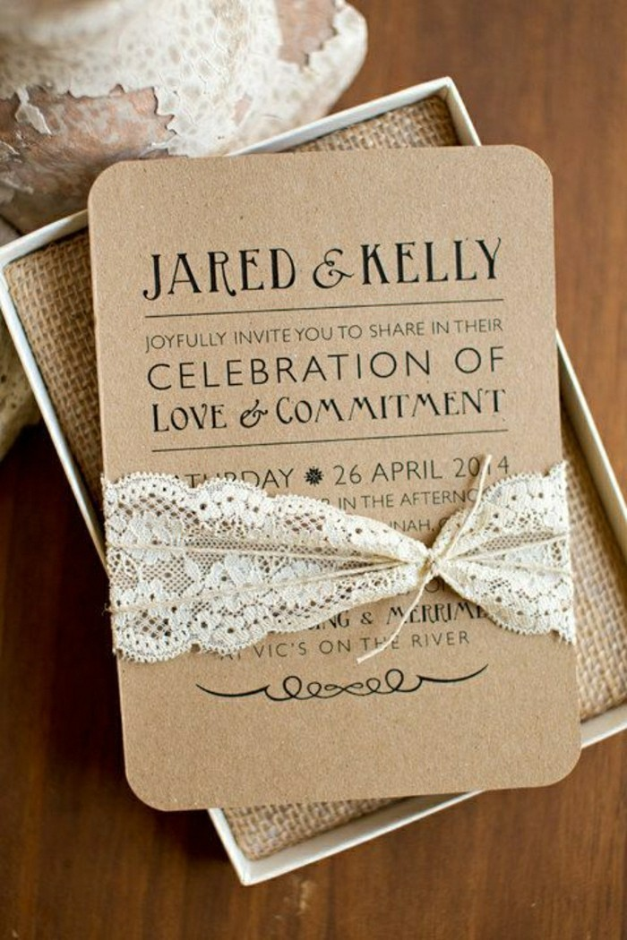 Invitation mariage moderne