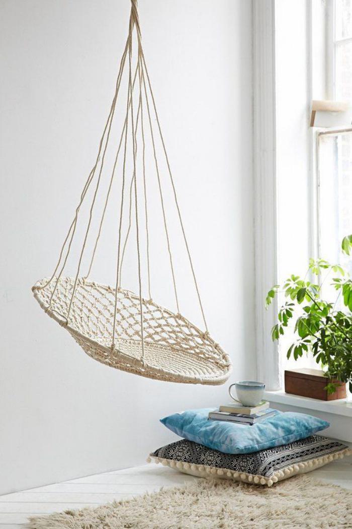 chaise-hamac-chaise-suspendue-macramé-blanc