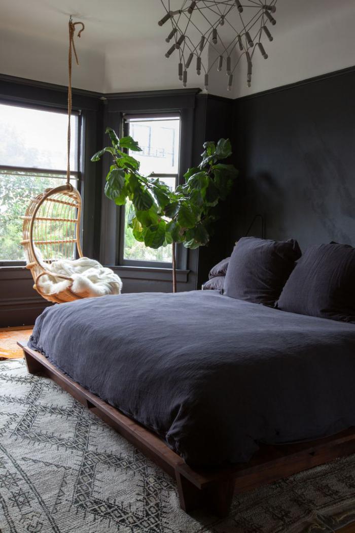 chaise-hamac-en-rotin-pour-la-chambre-à-coucher