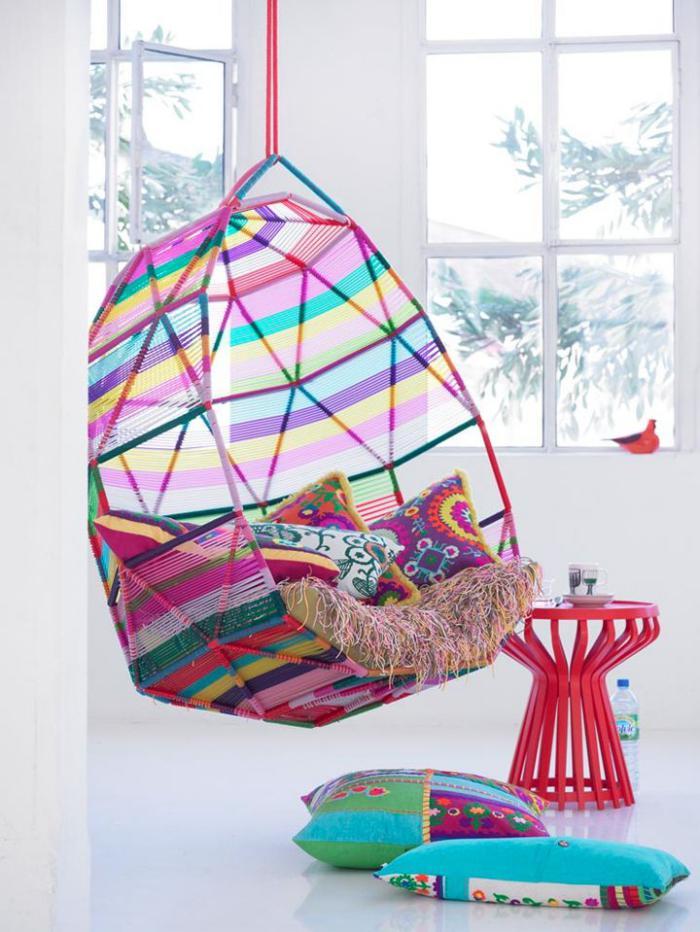 chaise-hamac-multicolore-chaise-moderne-déco