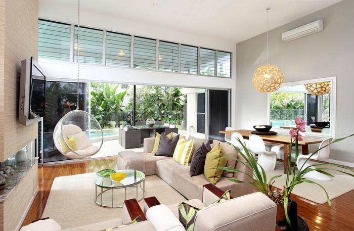 chaise-hamac-salle-de-séjour-élégante-chaise-boule-acrylique