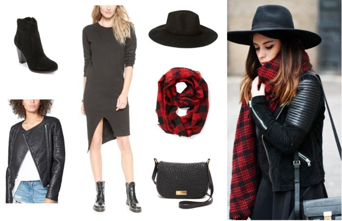 chapeau-capeline-feutre-noir-tenue-du-jour-femme-chique-stylé-foullard-rond