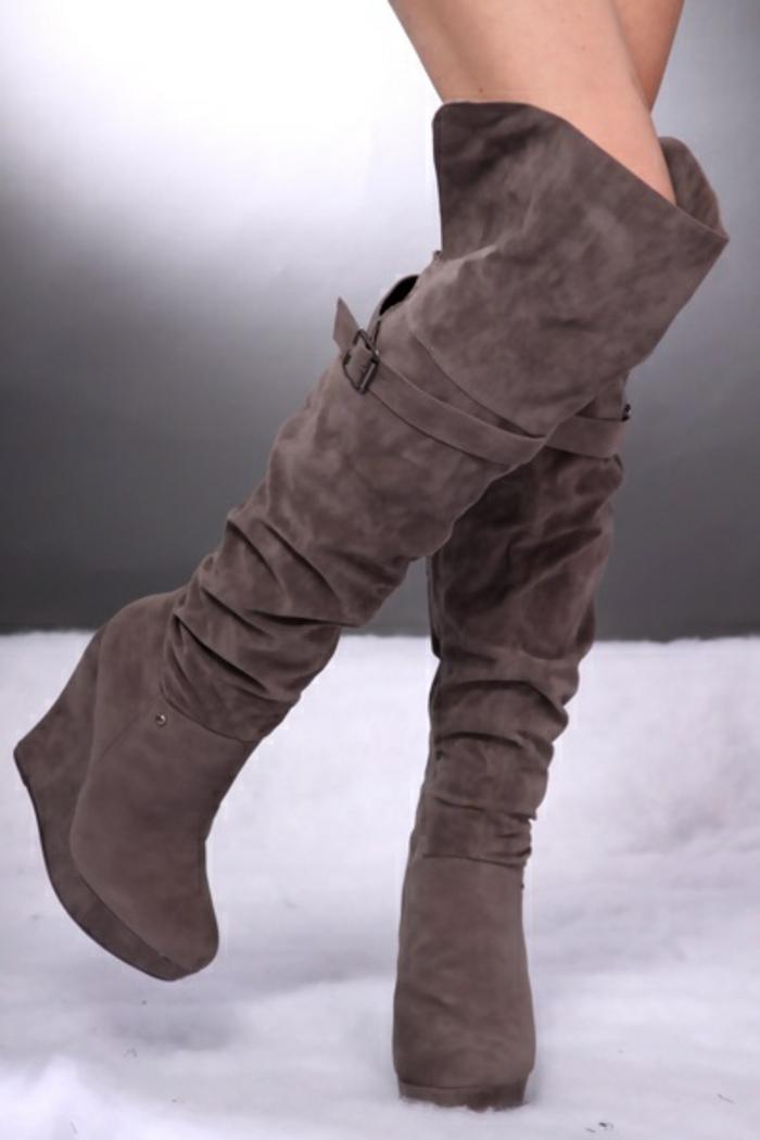 chaussures-compensées-hauttes-bottes-d'hiver