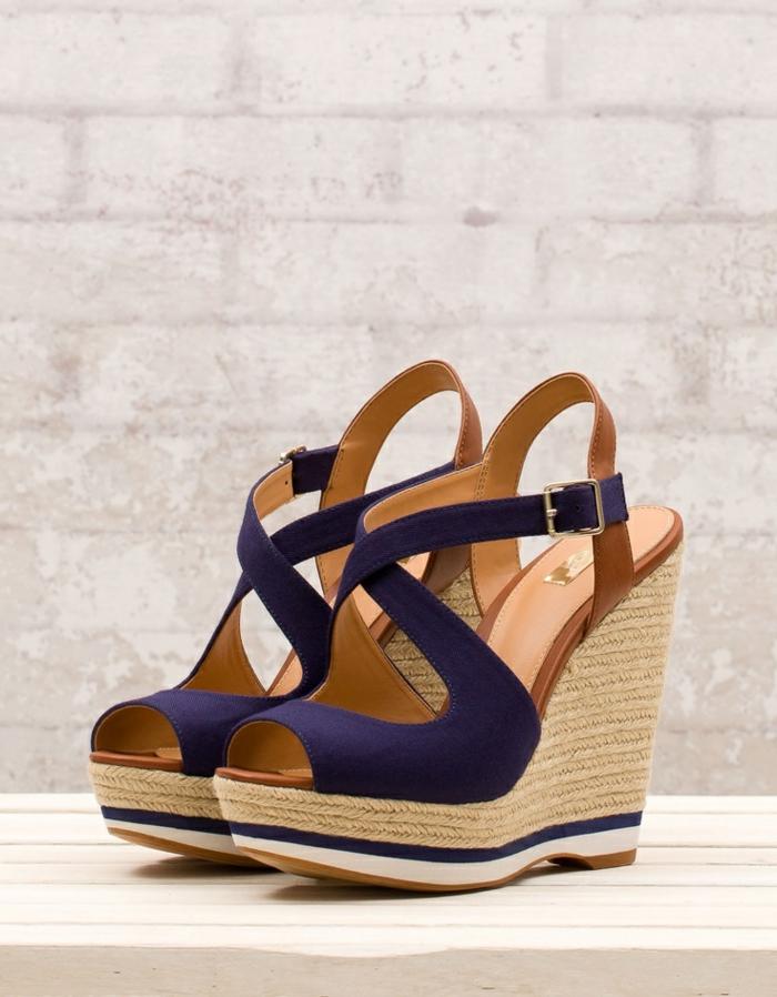 chaussures de séparation e6e50 8e013 Les chaussures compensées - un must have pour la femme ...