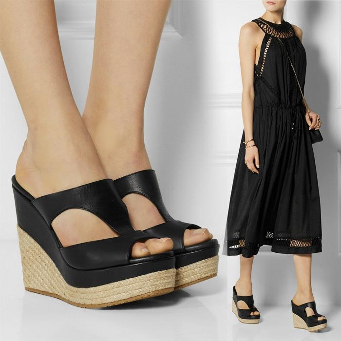 chaussures-compensées-mode-élégante-bohémienne-en-noir
