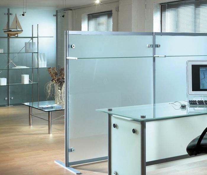 separation de bureau en verre attractive porte de bureau en verre with separation de bureau en. Black Bedroom Furniture Sets. Home Design Ideas