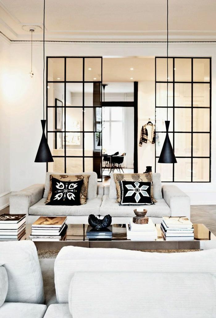 cloison-en-verre-deux-cloisons-vitrées-salle-de-séjour-artistique