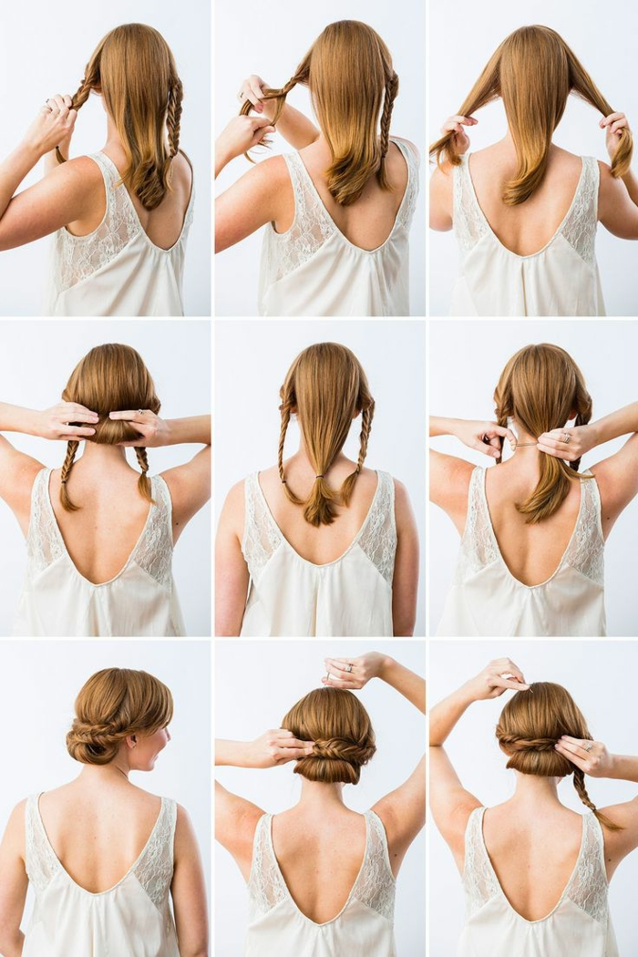 coiffure-avec-tresse-coiffure-élégante-avec-deux-tresses