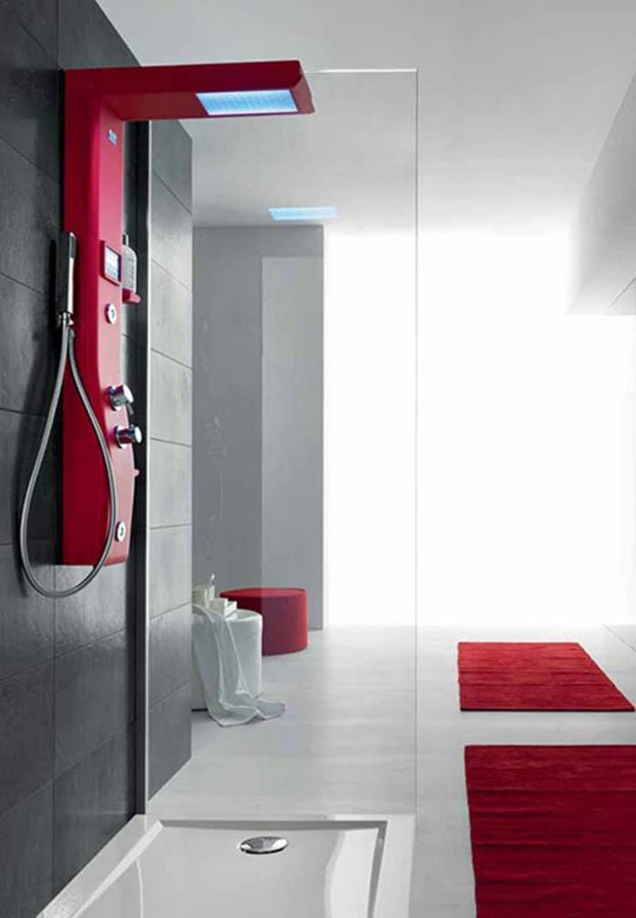 D couvrir la meilleure colonne de douche en 53 photos for Colonne de salle de bain rouge