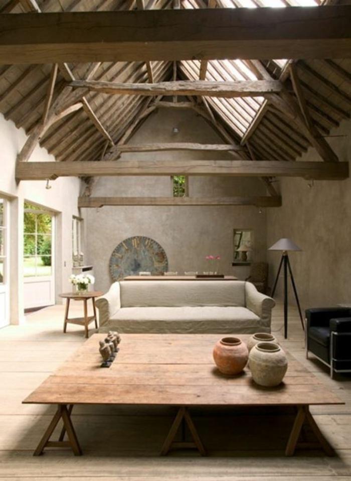 comment-décorer-son-salon-avec-intérieur-en-bois-clair-petite-table-basse-de-salon