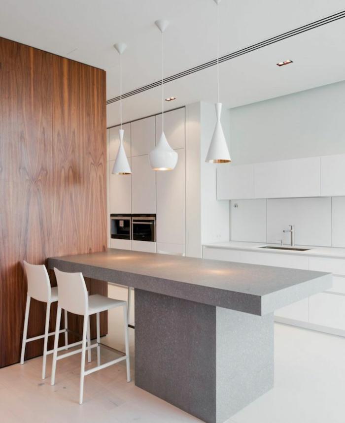 couleur-cuisine-feng-shui-blanche-avec-un-design-simple-et-epuree-lampe-blanche-dans-la-cuisine