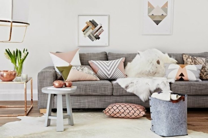 Chic Grey Living Room With Clean Lines: 50 Idées Originales Pour La Maison