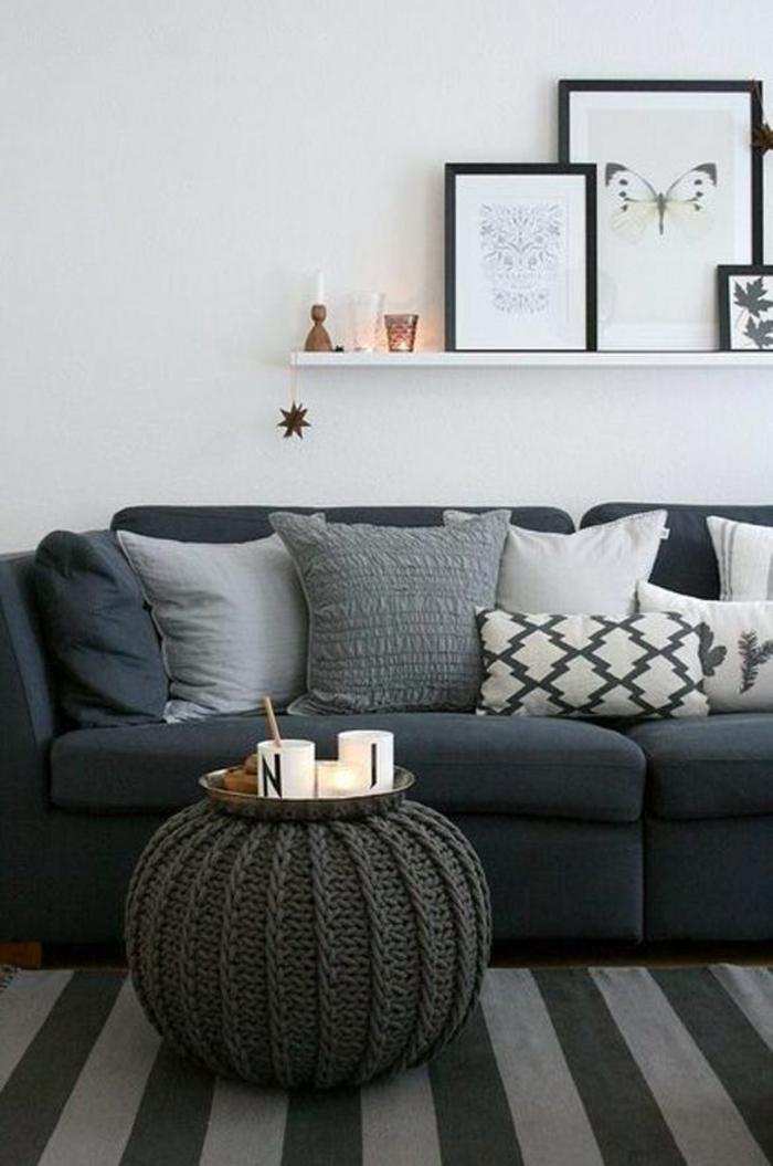 coussin-canapé-design-housse-de-coussin-coussins-pas-cher-noir-et-gris-intérieur