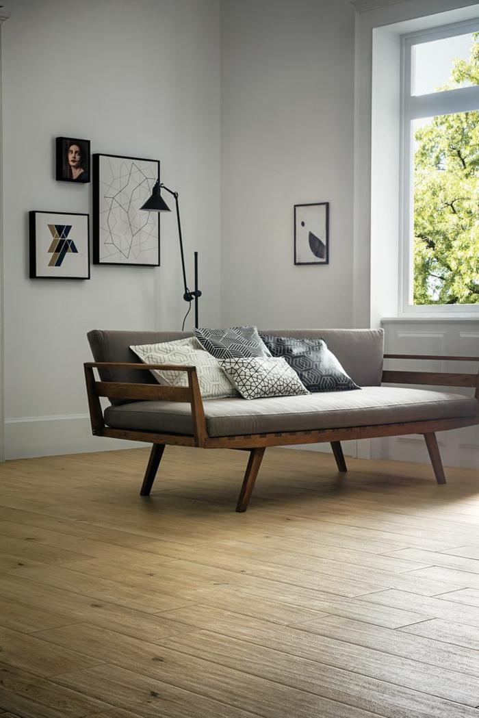 coussins-design-sofa-idées-originales-pour-le-salon-chic-banc-vintage