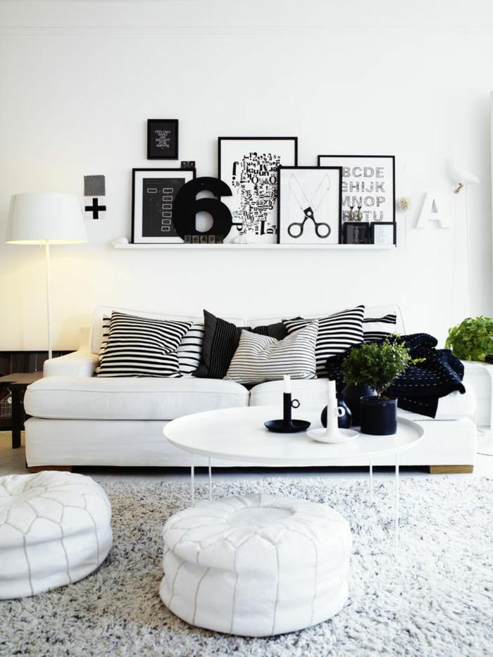 coussins-design-sofa-idées-originales-pour-le-salon-chic-noir-et-blanc