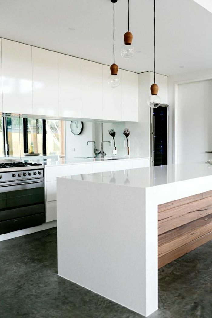 cuisine-blanche-laquée-photo-cuisine-moderne-originale-tout-blanc-et-bois