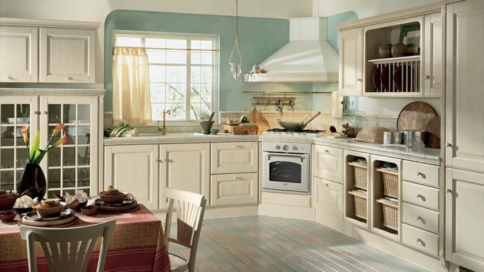 cuisine esprit campagne une cuisine campagne sous les. Black Bedroom Furniture Sets. Home Design Ideas