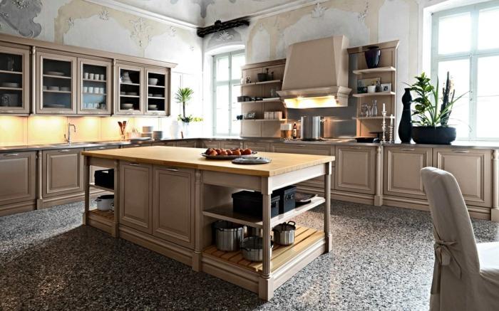 cuisine-style-campagne-cuisine-esprit-chalet-vaisselier-mural