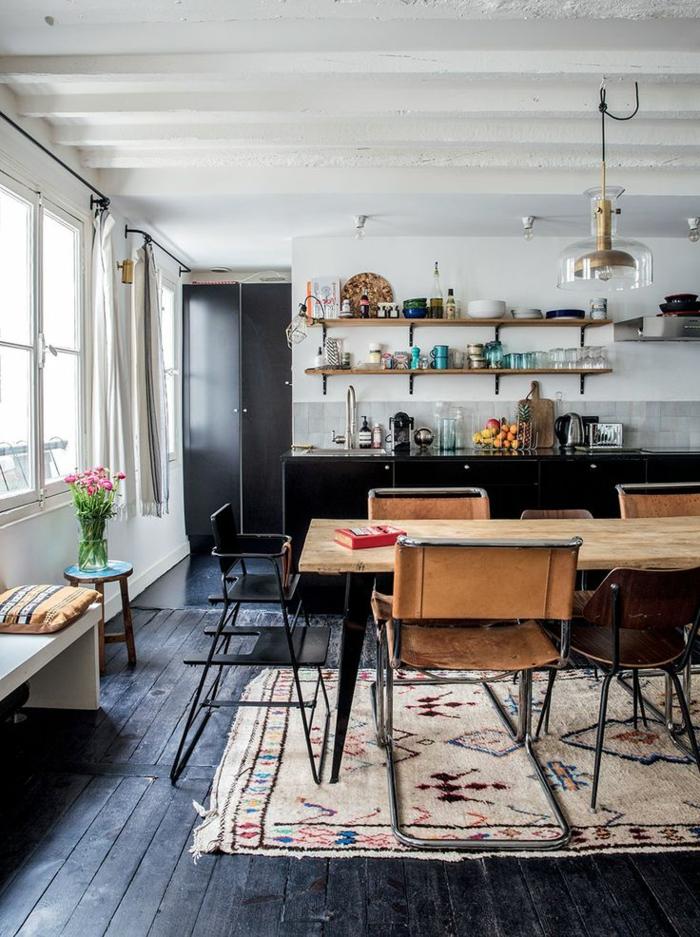 La cuisine style campagne d cors chaleureux vintage - Sol vinyle pour cuisine ...
