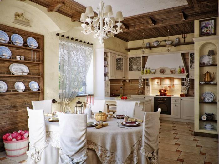 cuisine-style-campagne-cuisine-super-chaleureuse-rustique-plafonnier-blanc