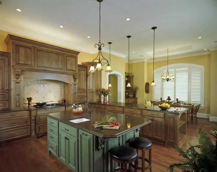 cuisine-style-campagne-deux-grands-comptoirs-et-table