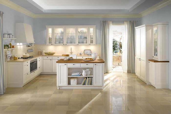 cuisine-style-campagne-en-blanc-aménagement-harmonieux