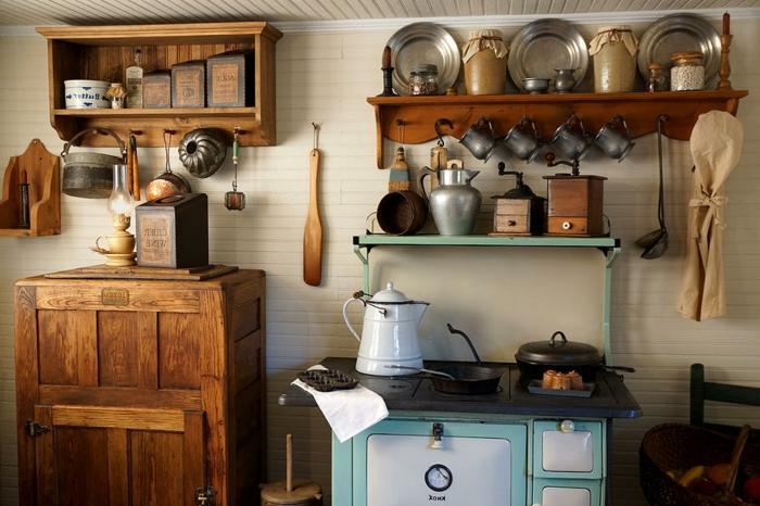 la cuisine style campagne d cors chaleureux vintage. Black Bedroom Furniture Sets. Home Design Ideas