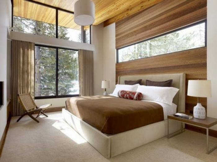 Bedroom Inspiration Brown Walls