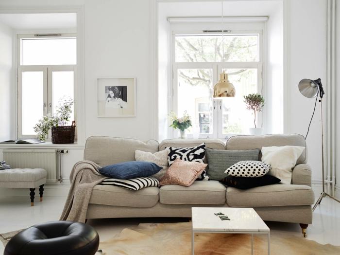 des-meubles-design-scandinave-tapis-scandinave-maison-scandinave-canapé-beige