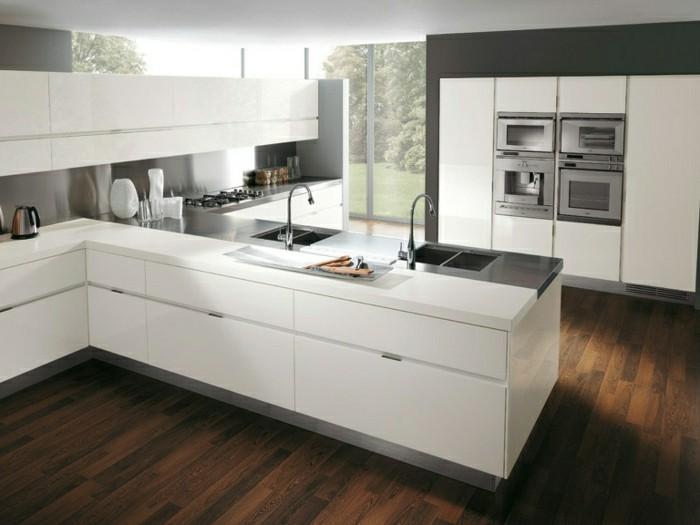 des-photos-cuisine-blanche-cuisine-moderne-idées-cuisine-nordique-scandinave