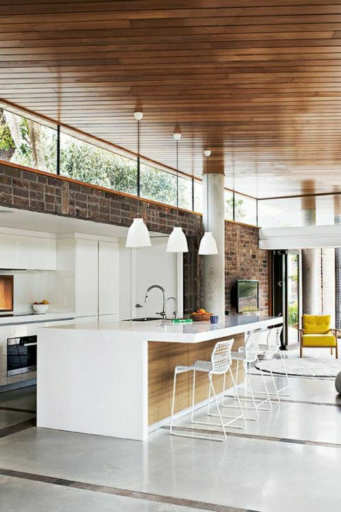 La cuisine blanche laqu e en 35 photos qui vont vous inspirer - Cuisine rustique blanche ...