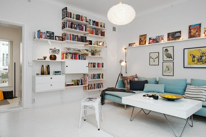 design-scandinave-meuble-scandinave-décoration-scandinave-peintures-table-basse-canapé-d-angle