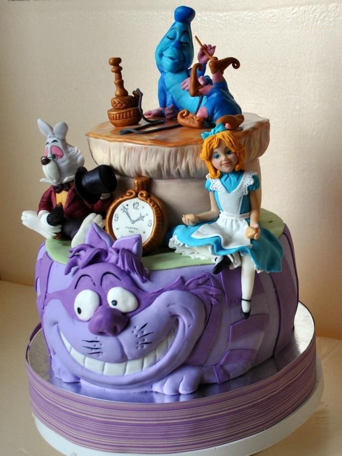 disney-alice-au-pays-des-merveilles-gâteau-anniversaire-fête-décoration-le-chat-chemsire