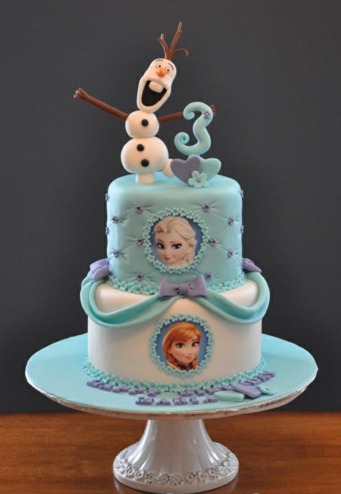 frozen-la-reine-des-neiges-gâteau-anniversaire-fille-image-de-gateau-3-ans-avec-elsa-et-anna