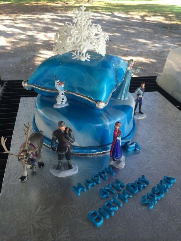 frozen-la-reine-des-neiges-gâteau-anniversaire-fille-image-de-gateau-4-ans-anniversaire