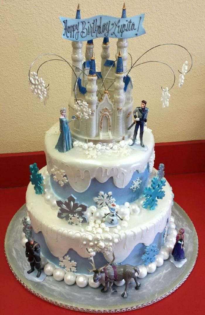 gâteau-pour-l-anniversaire-de-votre-file-avec-elsa-frozen-decors-gateaux-anniversaire-de-boutique-commander