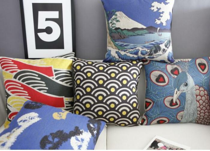 housse-de-coussin-design-intérieur-salle-de-séjour-bien-aménagé-coussettes