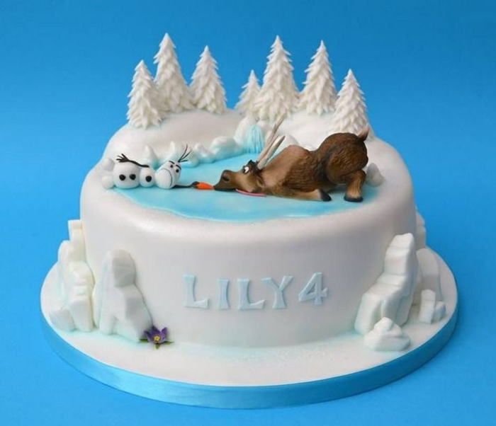 Le g teau reine des neiges 50 id es originales for Idee deco gateau