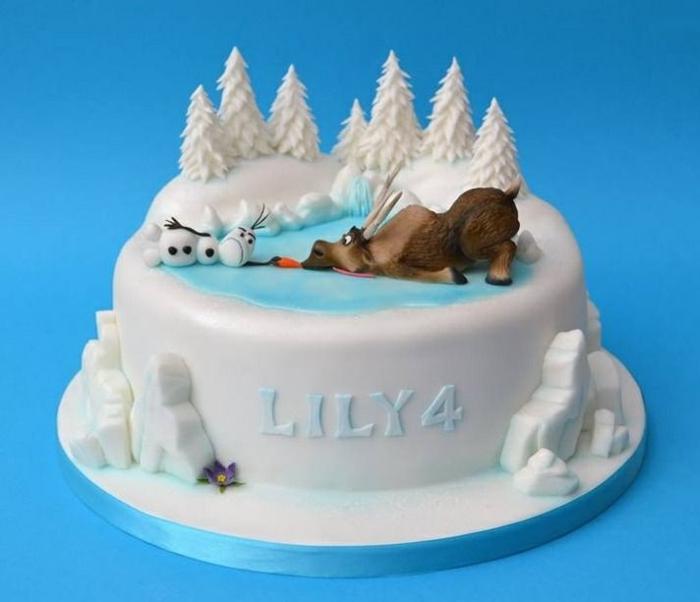 ... -gâteau-anniversaire-fille-reine-des-neiges-gateaux-idées-amusant