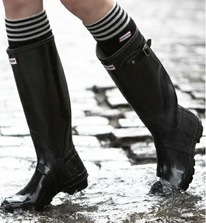 idées-bottes-aigle-après-ski-femme-s-habiller-bien-jour-froid-la-pluie