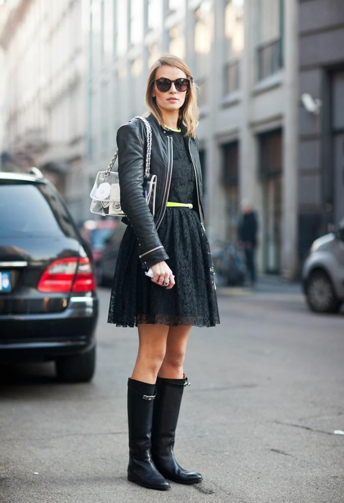idées-bottes-aigle-après-ski-femme-s-habiller-bien-jour-froid-tout-noir