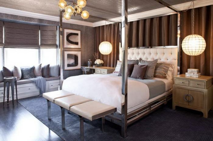 idées-déco-chambre-adulte-complete-lit-chambre-à-coucher-lit-en-fer-cubique