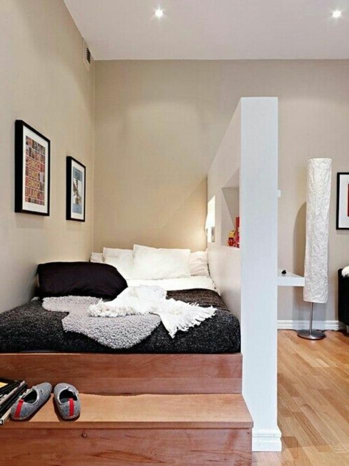 idées-déco-chambre-adulte-complete-lit-chambre-à-coucher-petit-espace