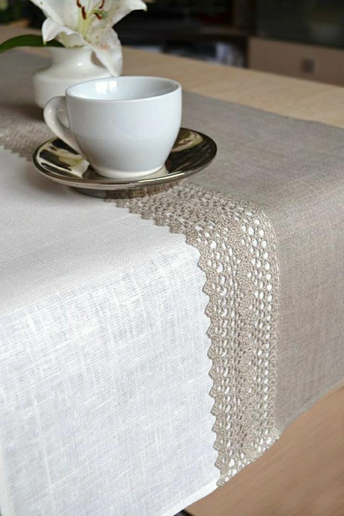 La nappe en lin un d tail styl la d co for Nappe pour table exterieur