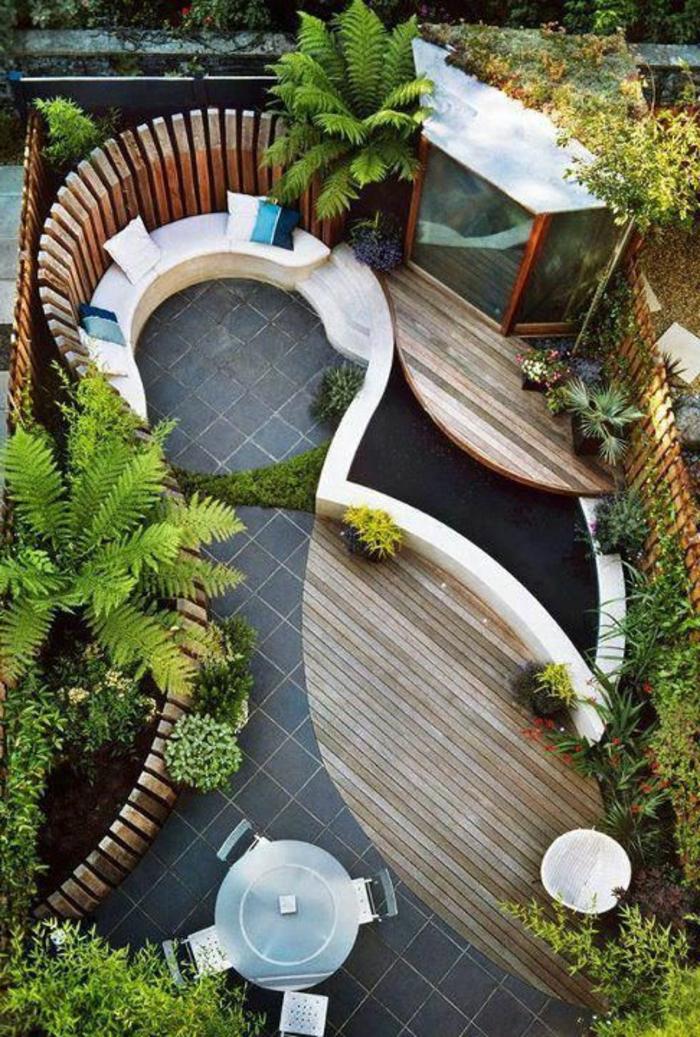 idee deco petit jardin comment aménager sa terrasse plante verte d ...
