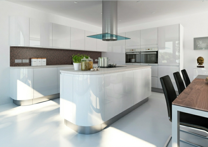 high gloss black kitchen cabinets la cuisine blanche laqu 233 e en 35 photos qui vont vous 7041