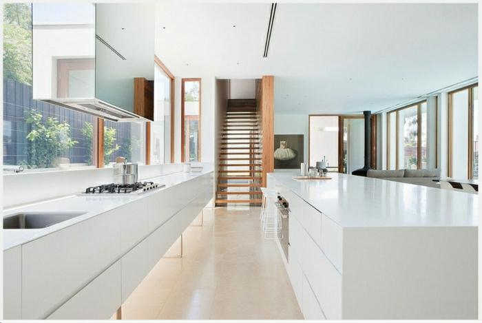 la cuisine blanche laqu e en 35 photos qui vont vous. Black Bedroom Furniture Sets. Home Design Ideas
