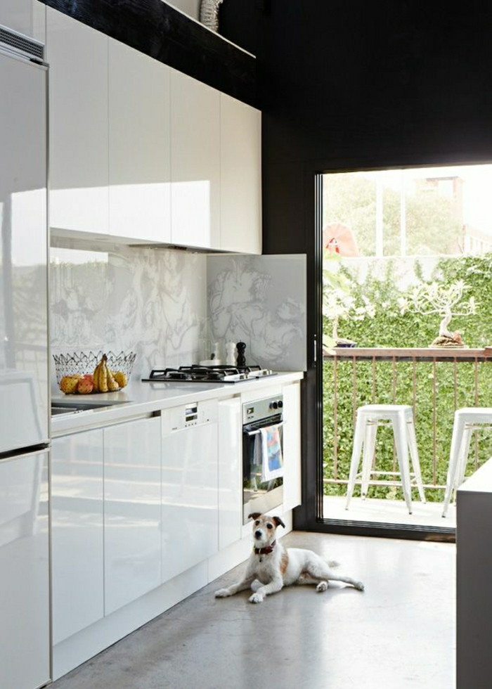 idee-deco-cuisine-photo-cuisine-blanc-laqué-aménagement-vue