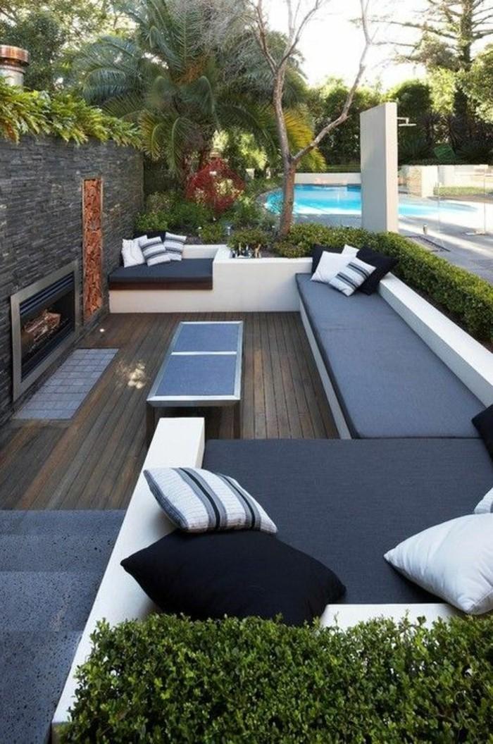 idee-deco-jardin-exterieur-avec-meubles-d-extérieur-pour-le-cour-moderne